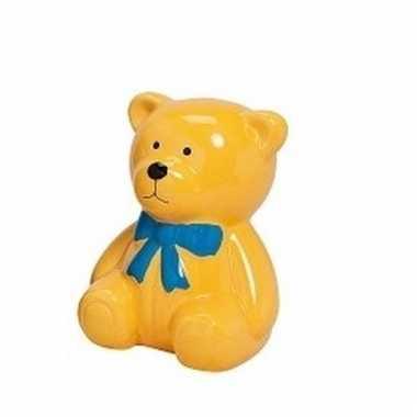 Kinder spaarpot gele teddybeer