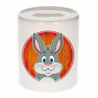 Kinder spaarpot hazen / konijnen print kids