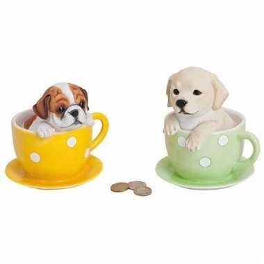 Kinder  Spaarpot hond theekopje