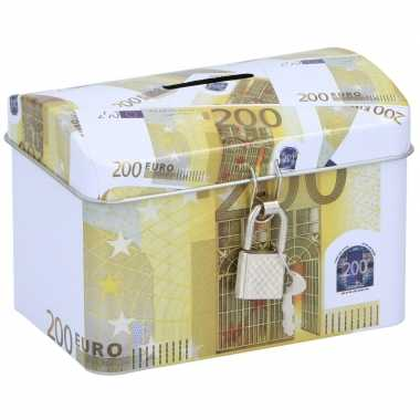 Kinder spaarpot kistje euro biljet