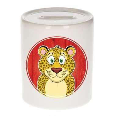 Kinder spaarpot luipaarden print kids