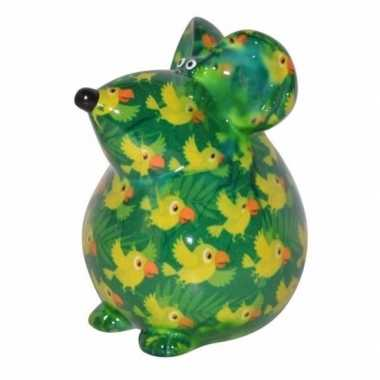 Kinder spaarpot muis groen type