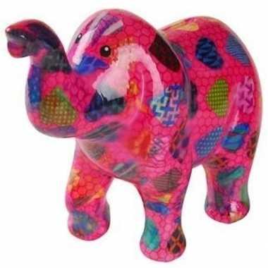 Kinder spaarpot olifant roze hartjes