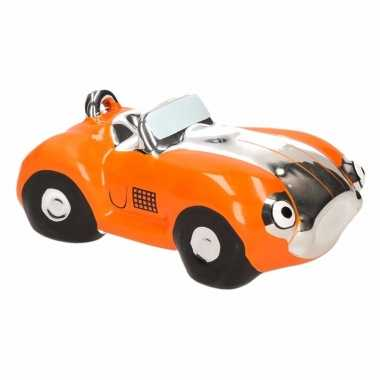 Kinder spaarpot oranje sportauto cabriolet