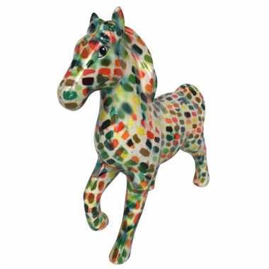 Kinder spaarpot paard multicolor