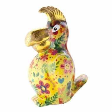 Kinder spaarpot papegaai geel type