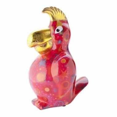 Kinder spaarpot papegaai rood