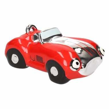 Kinder spaarpot rode sportauto cabriolet