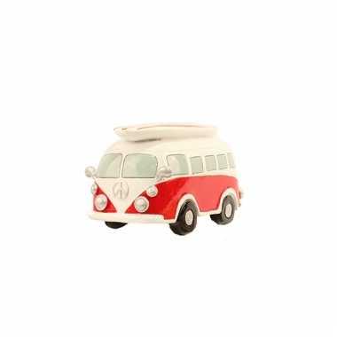 Kinder  Spaarpot Rood VW busje