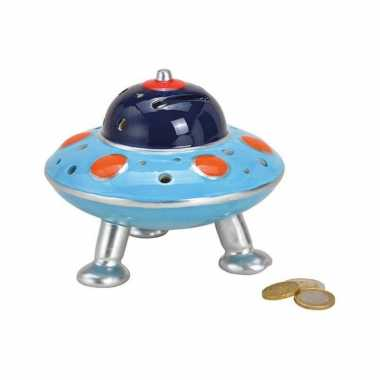 Kinder spaarpot ufo blauw