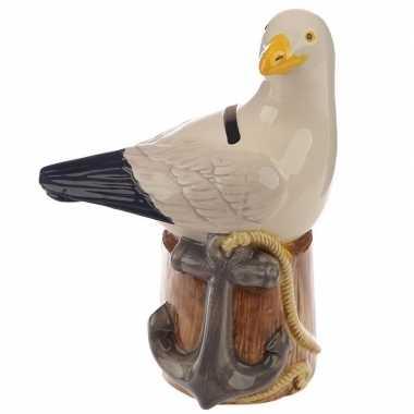Kinder spaarpot vogel beeldje zeemeeuw