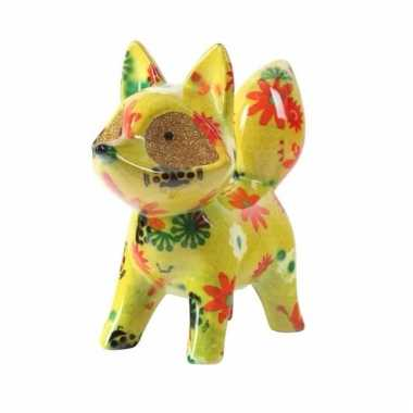 Kinder spaarpot vos geel