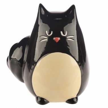 Kinder spaarpot zwarte kat/katten beeldje