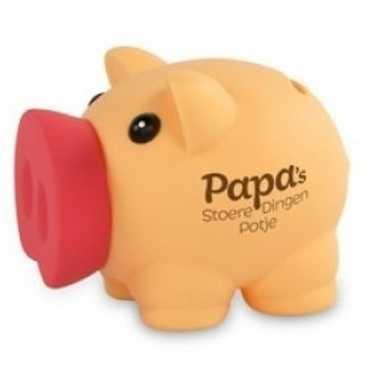 Kinder spaarvarken spaarpot papa stoere dingen potje
