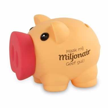 Kinder spaarvarkentje maak mij miljonair spaarpot