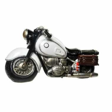 Kinder  Stenen spaarpotten witte motorfietsen