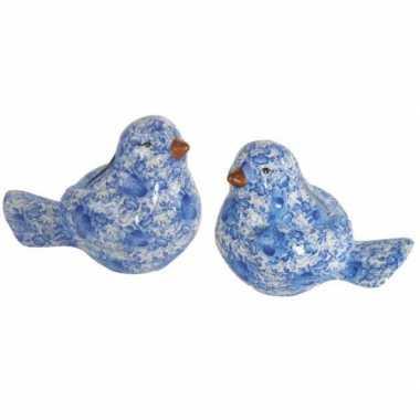 Kinder  Vogel spaarpot blauw
