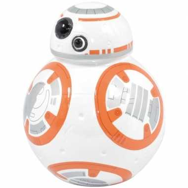 Kinder wit/oranje star wars spaarpot bb robot/droid