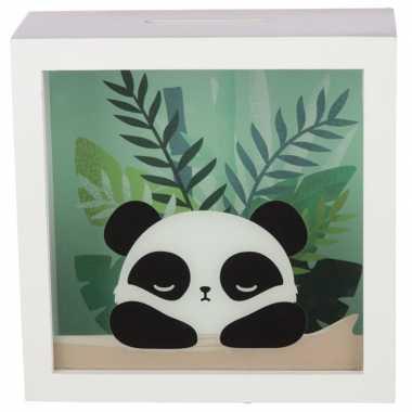 Kinder witte raam spaarpot pandabeer/pandaberen