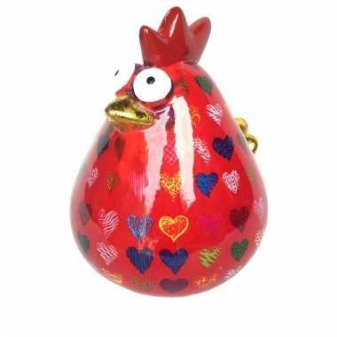 Kinder xl spaarpot kip rood