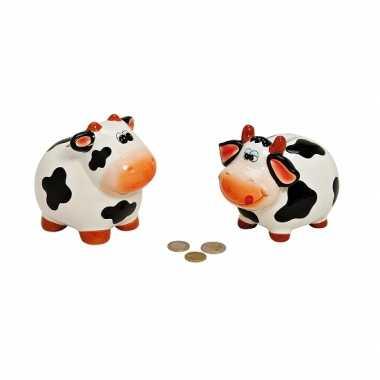 Kinder  Zwart witte koeien spaarpot