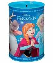 Kinder blauwe dsiney frozen spaarpot blik meisjes
