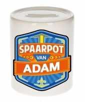 Kinder cadeau spaarpot een adam
