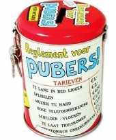 Kinder collectebus reglement pubers spaarpot