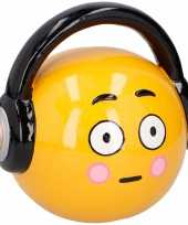 Kinder emoji spaarpot headphone