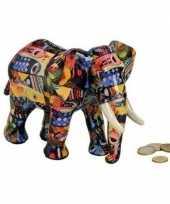 Kinder luxe spaarpot olifant blauw keramiek