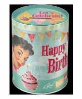 Kinder retro happy birthday spaarpotten