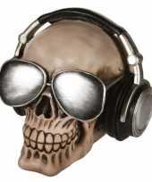 Kinder schedel spaarpot koptelefoon