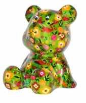Kinder spaarpot beer groen fruit print