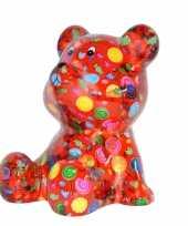 Kinder spaarpot beer rood snoepjes print