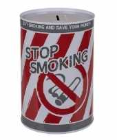 Kinder spaarpot blik stop smoking