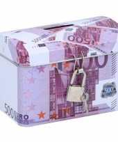 Kinder spaarpot kistje euro biljet 10135599