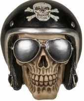 Kinder spaarpot motor bikers skull