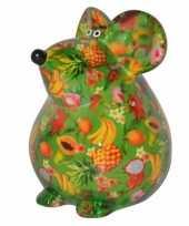 Kinder spaarpot muis groen type 10087188