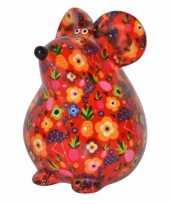 Kinder spaarpot muis rood type
