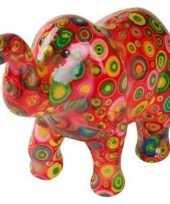 Kinder spaarpot olifant rood cirkels