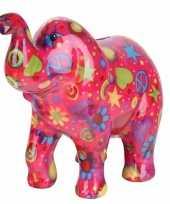 Kinder spaarpot olifant roze type