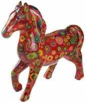 Kinder spaarpot paard rood cirkels