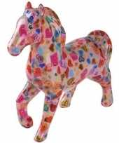 Kinder spaarpot paard roze hartjes