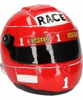 Kinder spaarpot rode race helm