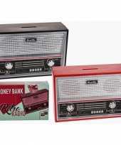Kinder zwarte radio spaarpot